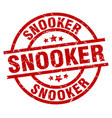 snooker round red grunge stamp vector image vector image