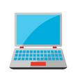 stylized laptop vector image