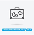 suitcase icon simple car sign vector image vector image