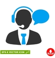 Support Manager Message Eps Icon vector image