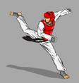 taekwondo martial art vector image vector image
