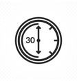 thirty minutes symbol vector image