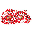 traditional ukrainian red floral ornament vector image