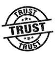 trust round grunge black stamp vector image vector image