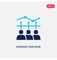 two color increase team work icon from business vector image vector image