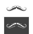 vintage monochrome detailed mustache vector image vector image