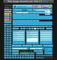 web design elements blue vector image vector image