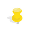 Yellow pin vector image vector image