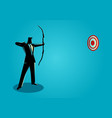 business on target vector image