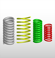 Colored springs vector image
