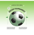 Soccer tournament invitation poster vector image