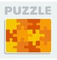 Puzzle pieces twelve vector image