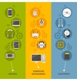 Computer Devices And Equipment Banner Set vector image