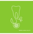 Dental floss linear vector image