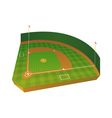 3D Baseball Field vector image vector image