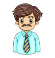 A businessman with a beard vector image vector image