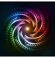 Abstract rainbow neoncosmic spiral background vector image vector image