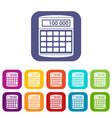 an electronic calculator icons set vector image vector image