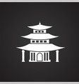asian traditional house on black background vector image