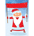 Background with Santa vector image vector image