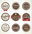 bakery retro badge collection vector image vector image
