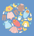 bashop cartoon kids clothing toys vector image vector image