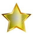 big gold star vector image