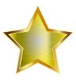 big gold star vector image vector image
