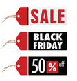 black friday and sale on tag vector image vector image