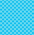 blue background fabric with white cross circles vector image vector image