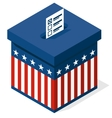 box for a vote presidential elections in the vector image vector image