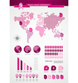 Breast cancer awareness ribbon global infographics vector image vector image