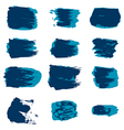 brush stroke blue paint abstract white background vector image vector image