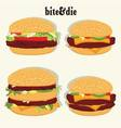 burger collection vector image vector image