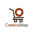 camera shop logo icon symbols and app icon vector image vector image
