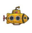 cartoon submarine sketch vector image vector image