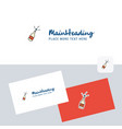 celebrations drink logotype with business card vector image vector image