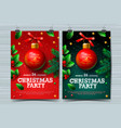 christmas party design templates posters with vector image