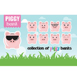Collection of piggy banks with different face vector image