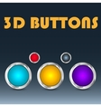 Colorful set of buttons vector image