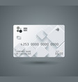 credit card with abstract geometric shape grey vector image