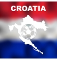 Croatian Abstract Map vector image vector image