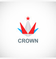 crown triangle star logo vector image vector image