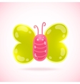 cute cartoon butterfly vector image vector image