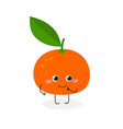 cute cartoon tangerine vector image vector image