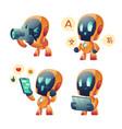 cute chat bot cartoon conversation robot vector image vector image