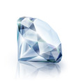 diamond with reflection isolated on white vector image vector image