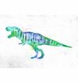 dynosaur tyranosaurus vivid vector image vector image
