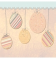 Easter eggs background EPS 8 vector image vector image