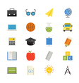 Education and School Flat Icons color vector image